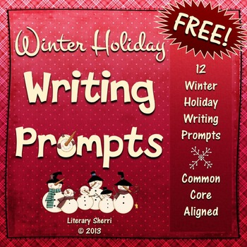 Writing Task Cards: Winter Holiday Writing Prompts (Grades