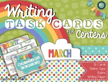 Writing Task Cards for Centers: March