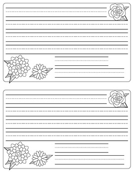 Writing Template For Inside Folded Card