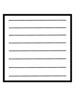 Writing Template (in various shapes)