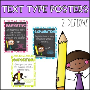 Writing Text Type Posters