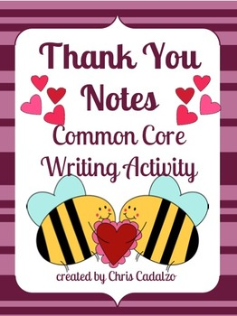 Writing Thank You Cards- Heart Theme
