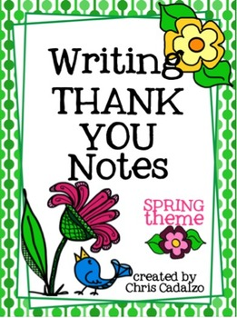 Writing Thank You Cards- Spring Theme