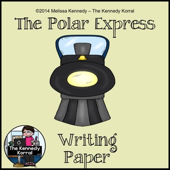 Polar Express Writing Paper {Color and Black Line}