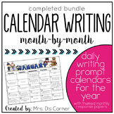 Writing Through the Year { Calendar Writing Prompts } Crea