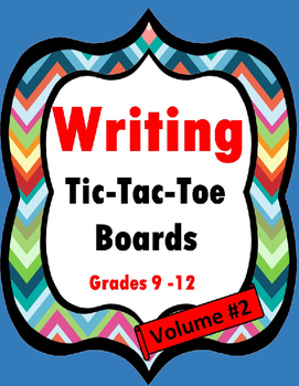 Writing Tic-Tac-Toe Boards- Volume 2 {Grades 9-12}
