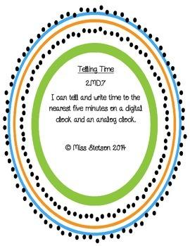 I Can Write Time Set 1