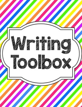 Writing Tools Notebook Printable in Stripes  - Updated 4/23