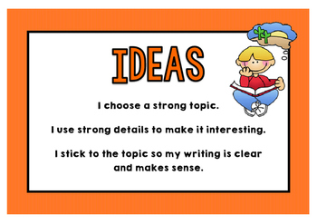 Writing Trait Posters