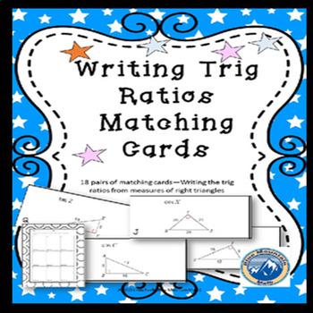 Writing Trig Ratios Matching Card Set