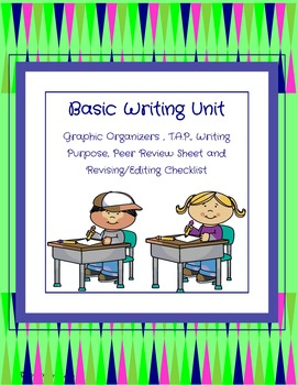 Writing Unit: Graphic Organizers and Peer Editing
