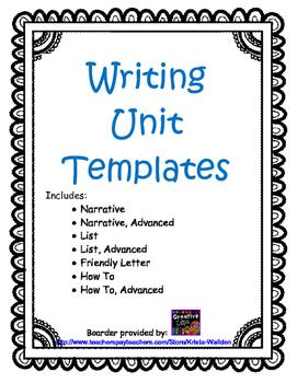 Writing Unit Templates