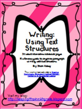 Writing - Using the Text Structures Interactive Notebook Pages