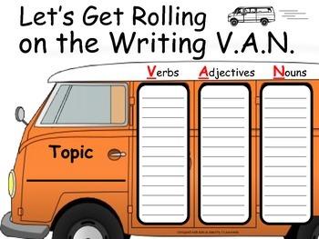 Word Processing - Writing VAN Graphic Organizer