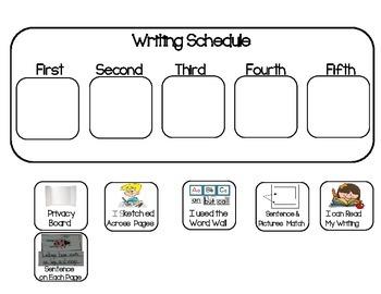 Writing Visual Schedule
