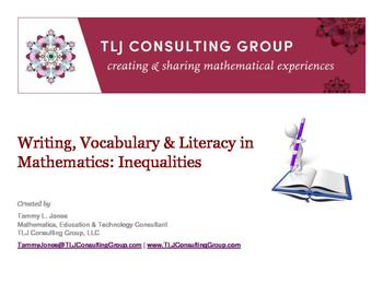 Writing, Vocabulary & Literacy in MS Mathematics: Inequalities