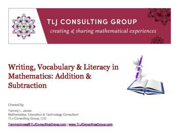 Writing, Vocabulary & Literacy in Mathematics: Addition &
