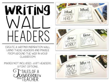 Writing Wall Inspiration Headers