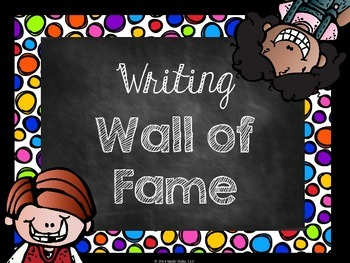 Writing Wall of Fame Bright Colors