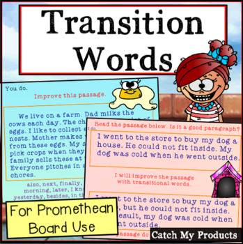 Writing With Transition Words for Promethean Board Use