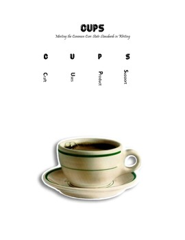 Writing With the Common Core:  CUPS mnemonic for Writing I