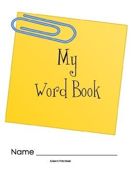 Writing Word Book