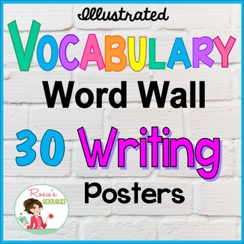 Writing Word Wall Vocabulary Posters