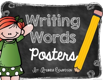 Writing Words Posters