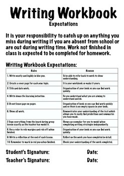Writing Workbook - Marking and Expectation File