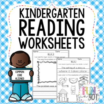 Reading Worksheets aligned to Common Core Standards