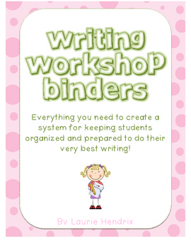 Writing Workshop Student Binder Organizing Packet
