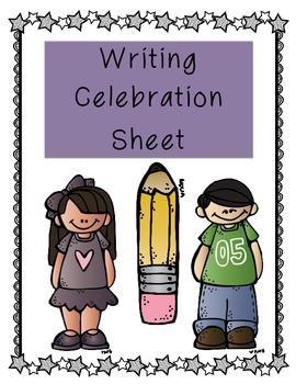 Writing Workshop Celebration Sheets