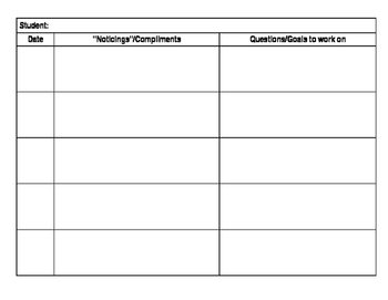 Writing Workshop Conference Form