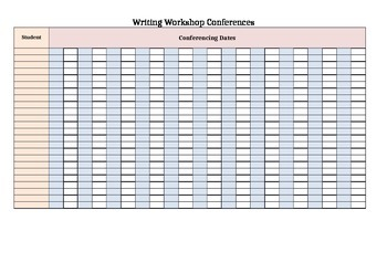 Writing Workshop Conferences Template