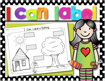 Writing Workshop {I Can Label a Setting} Workpage