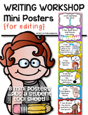 Writing Workshop Mini Posters {for Editing} Kindergarten a