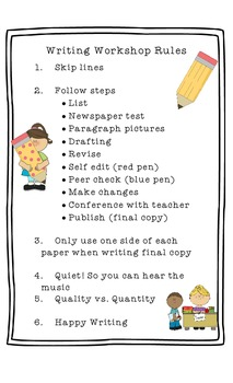 Writing Workshop Rules