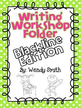 Writing Workshop Student Folders-Blackline Edition