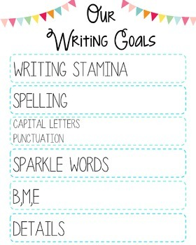 Writing Workshop Student Goals Poster