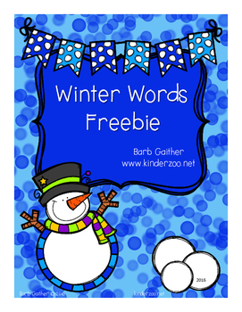 Writing Workshop---Winter Words