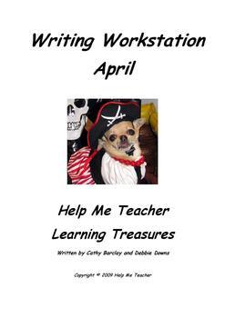 Kindergarten Writing Workstation - April Words - Help Me Teacher