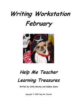 Kindergarten Writing Workstation - February Words - Help M