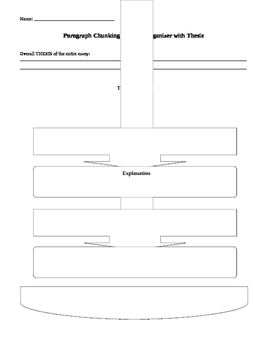 Writing a Body Paragraph: Graphic Organizer