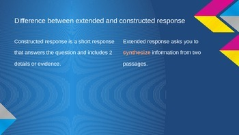 Writing a Constructed and Extended Response