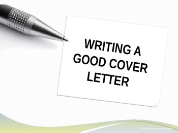 Writing a Good Cover Letter PowerPoint