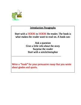 Writing a Hook / Introduction Paragraphs