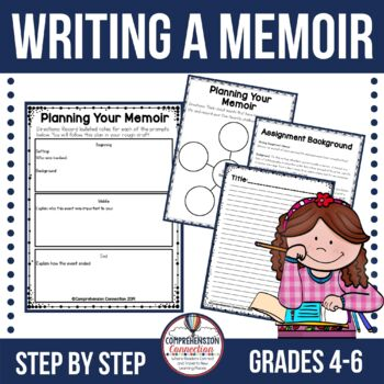 Writing a MemoirThis post is about writing memoirs using the book, The Memory String by Eve Bunting as a mentor text. This FREEBIE is included.