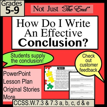 "NOT JUST ""The End"" Writing a Narrative Conclusion includin"