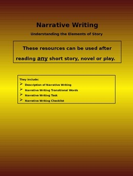 Writing a Narrative - Understanding the Elements of Story