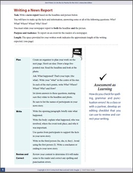 Writing a News Report—OSSLT Prep